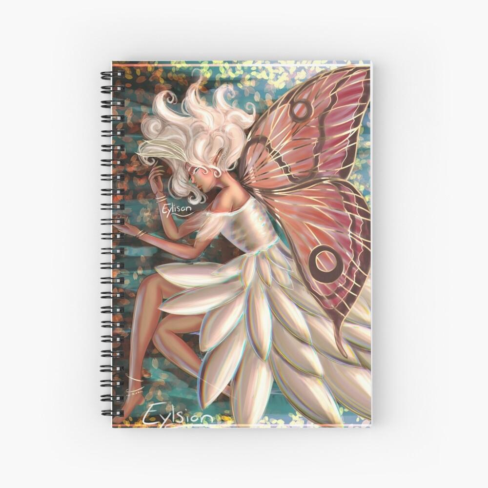 Moth Fairy Spiral Notebook