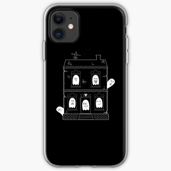 Spooky Cute Ghost Haunted House iPhone Soft Case
