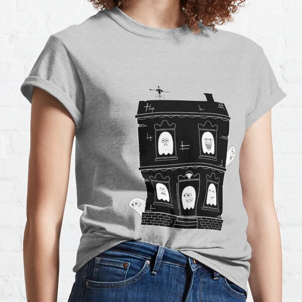 Spooky Cute Ghost Haunted House Classic T-Shirt