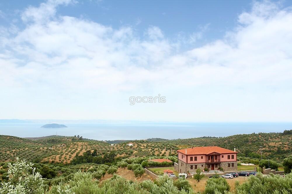 old house Sithonia Halkidiki Greece landscape by goceris