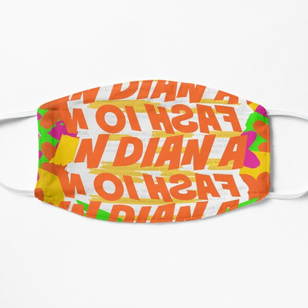 Stephen Sprouse inspired-Letter Print-Words-Day Glow Mask