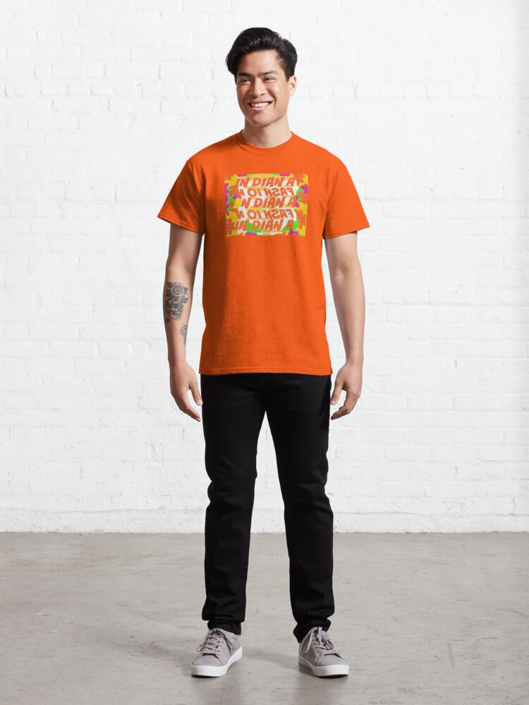 Alternate view of Stephen Sprouse inspired-Letter Print-Words-Day Glow Classic T-Shirt