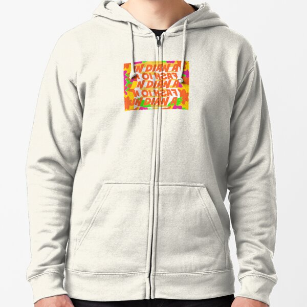 Stephen Sprouse inspired-Letter Print-Words-Day Glow Zipped Hoodie