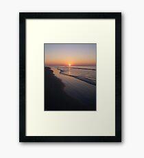 Sunrise Over The Atlantic Ocean Framed Print