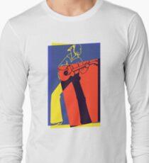 Retro Pop Art Guitarist Long Sleeve T-Shirt