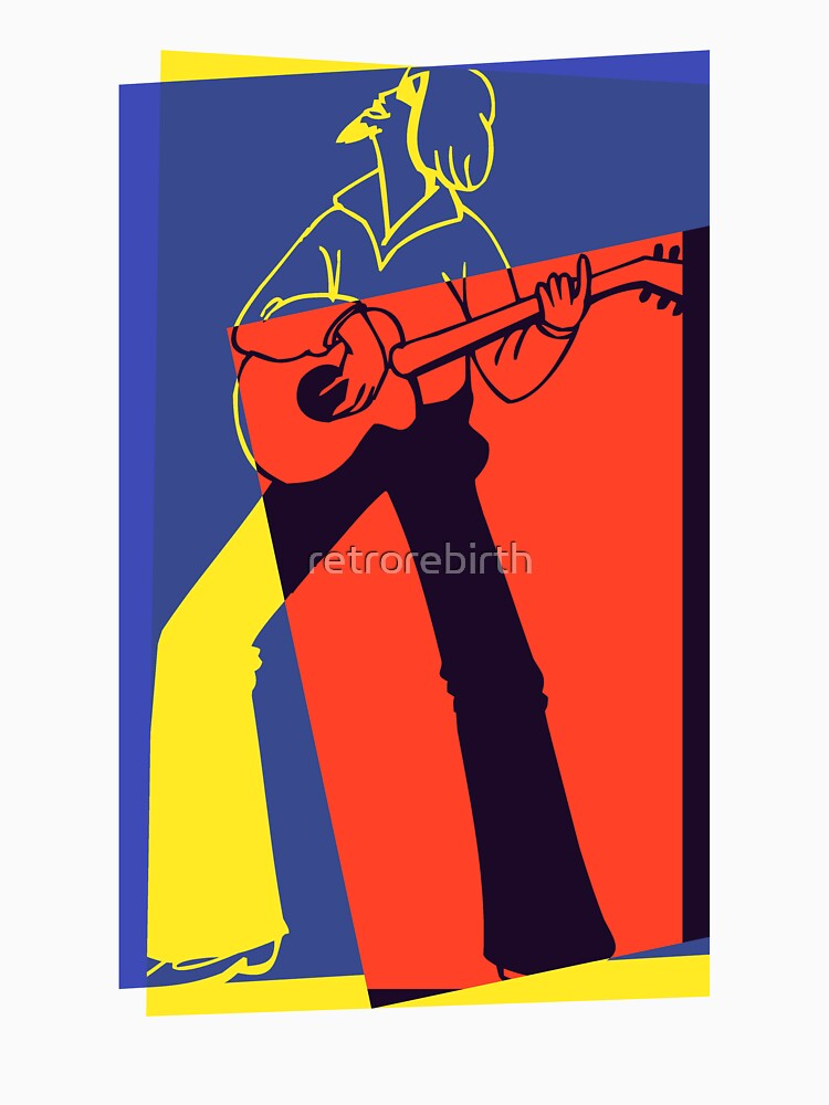 Retro Pop Art Guitarist | Unisex T-Shirt