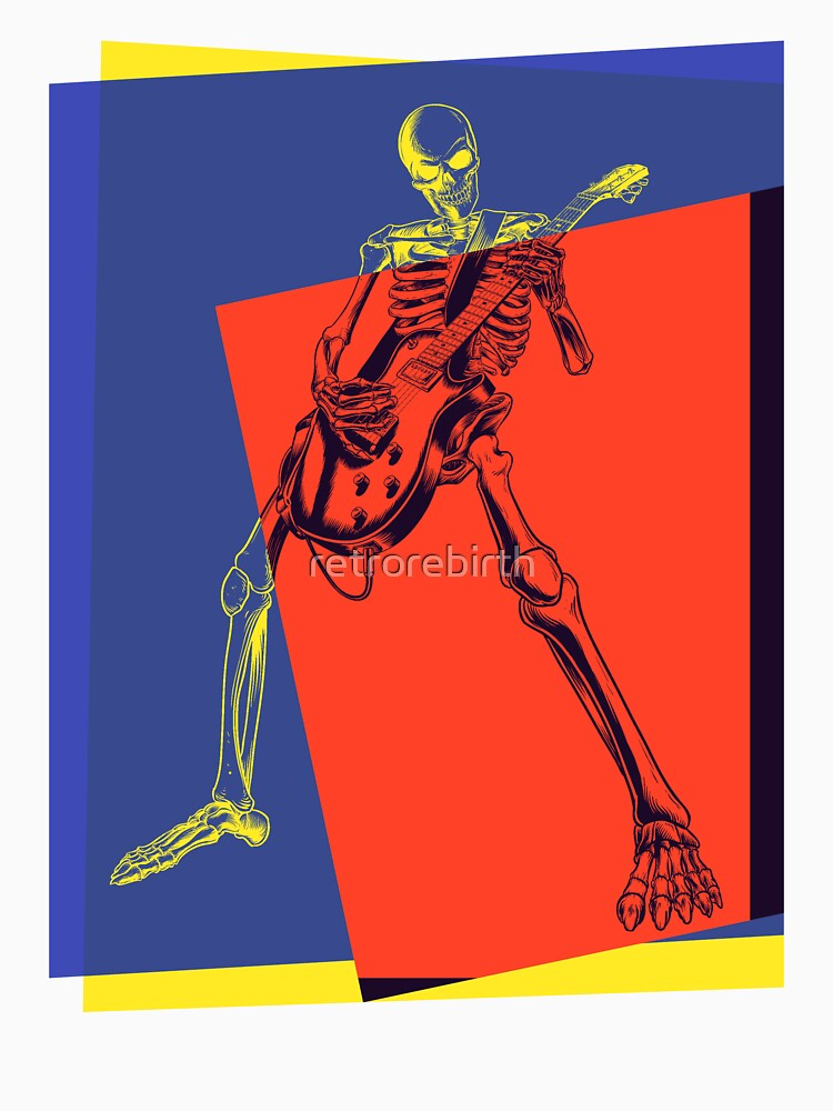 Pop Art Skeleton Rocker | Unisex T-Shirt