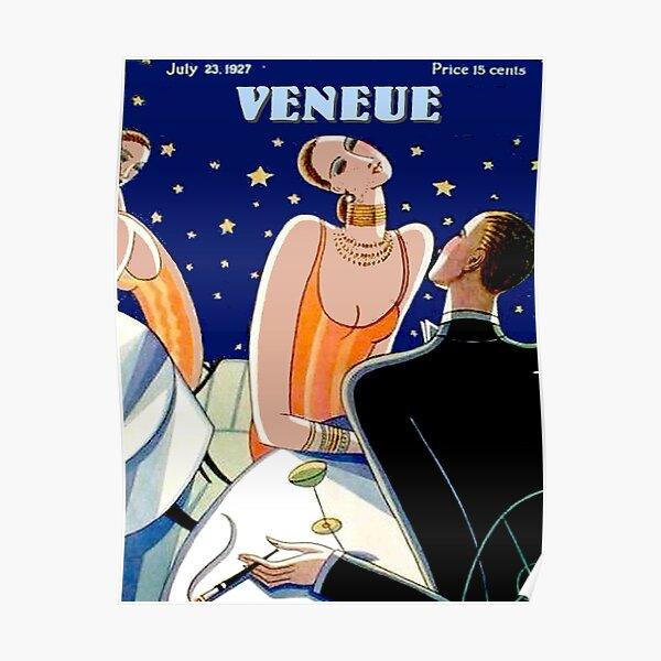 : Vintage Veneue 1929 Magazine Flapper Advertising Print Poster