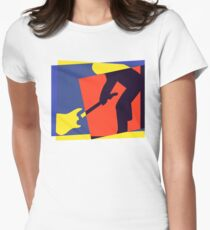 Rock Guitar Smash Womens Fitted T-Shirt