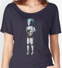 Robot and Kitty Women's Relaxed Fit T-Shirt