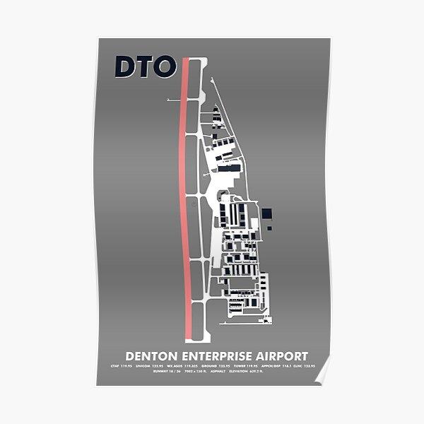 DTO Denton Enterprise Airport Art  Poster