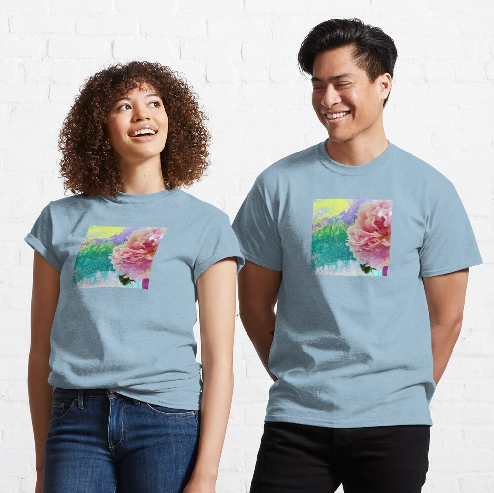 Abstract Painting-Pink Peony-Art and Nature Classic T-Shirt