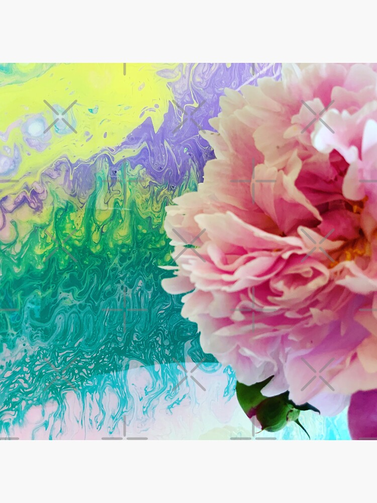 Abstract Painting-Pink Peony-Art and Nature by Matlgirl