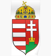 Medieval Coat of Arms of Hungary  Poster