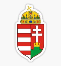 Medieval Coat of Arms of Hungary  Sticker