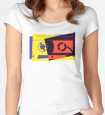 Pop Art Cassette Tape Women's Fitted Scoop T-Shirt