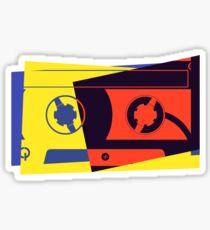Pop Art Cassette Tape Sticker