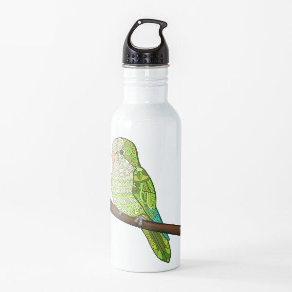 Pallid-Green Quaker Parrot Design Water Bottle