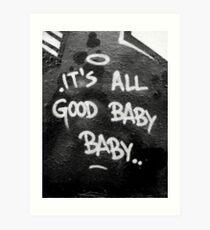 Lámina artística Es todo bebé bueno bebé