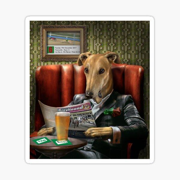 Greyhound Dog Portrait - Rusty Sticker