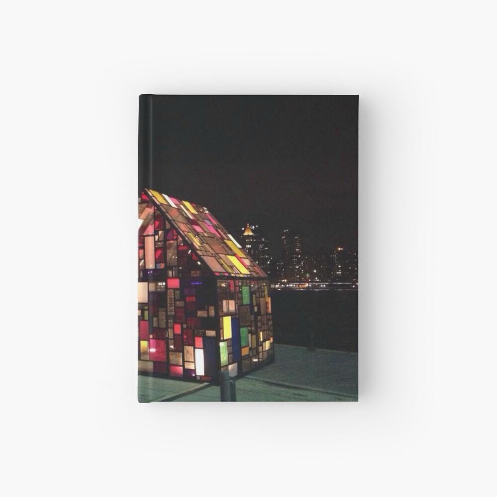 Stained Glass House- Brooklyn Bridge Park-Tom Fruin's Art Installation Hardcover Journal