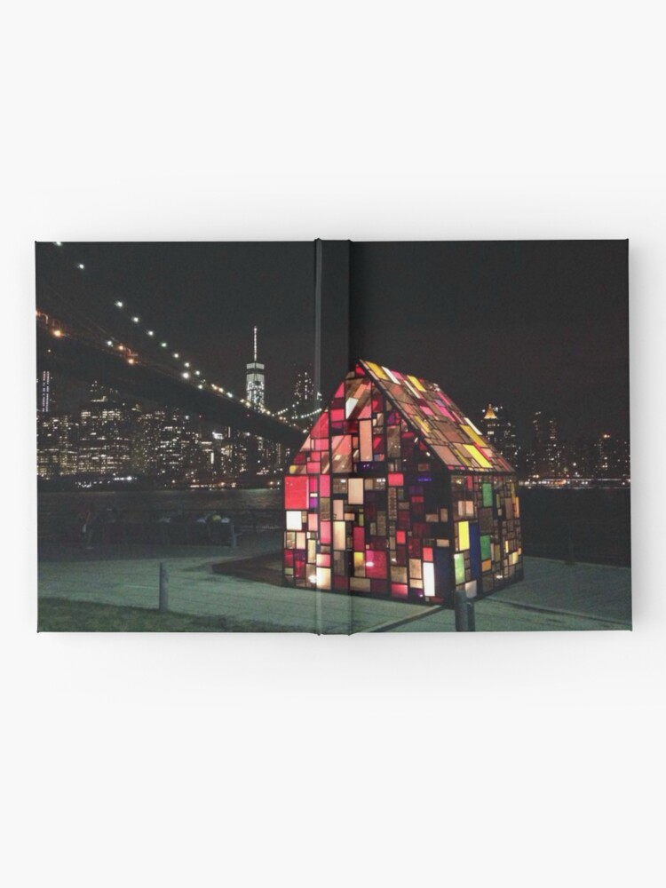 Alternate view of Stained Glass House- Brooklyn Bridge Park-Tom Fruin's Art Installation Hardcover Journal