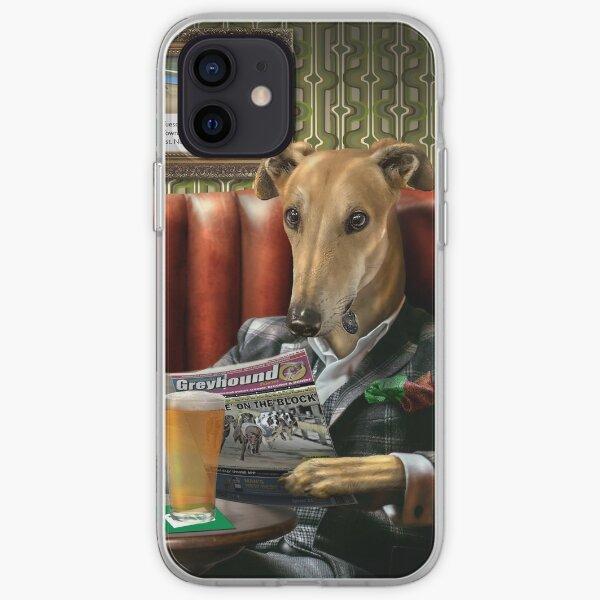 Greyhound Dog Portrait - Rusty iPhone Soft Case