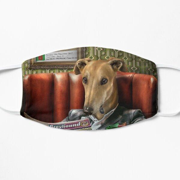 Greyhound Dog Portrait - Rusty Flat Mask