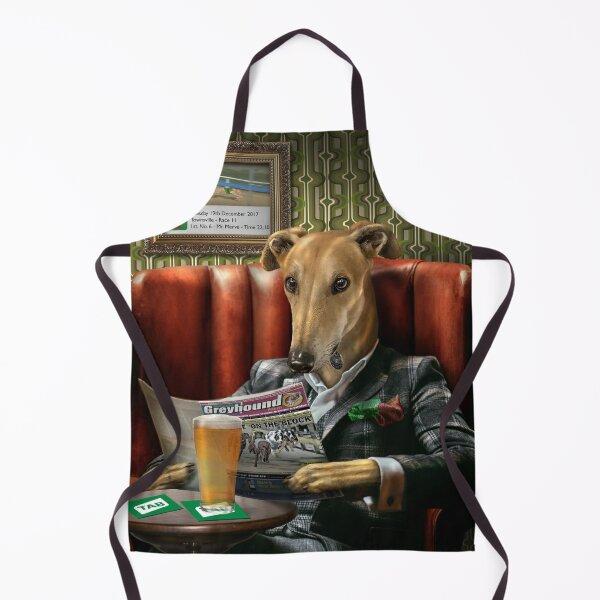 Greyhound Dog Portrait - Rusty Apron