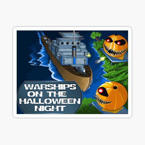 Warships On The Halloween Night Game Sticker