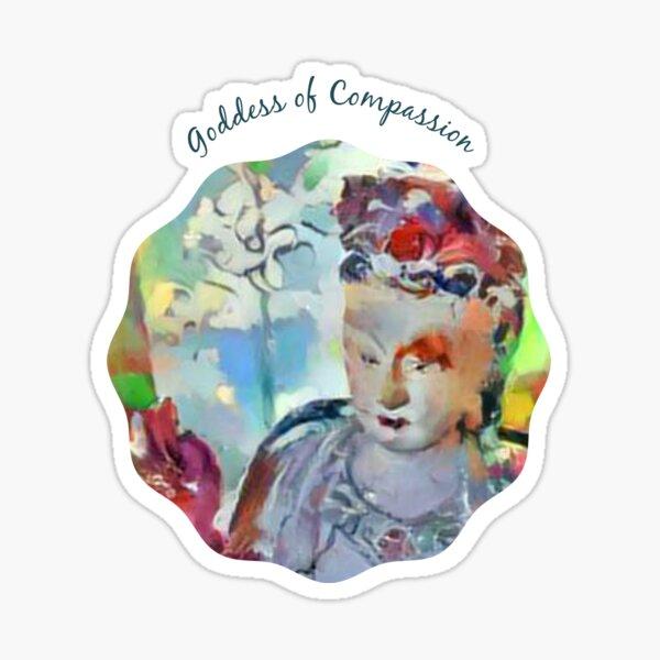 Goddess of Compassion-Kuan Yin-Guanyin- Guan Yin-Buddhist Sticker