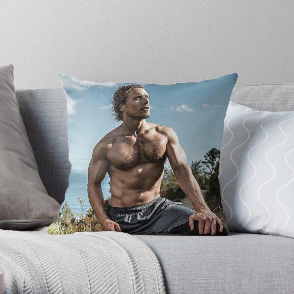 Sam Heughan Throw Pillow