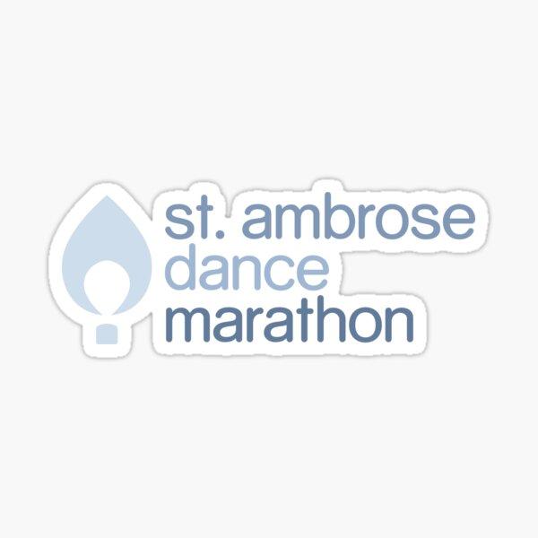 St. Ambrose Dance Marathon with Flame Sticker