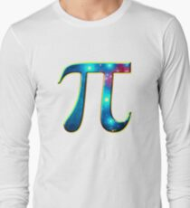 Pi π Galaxy Science Mathematics Math Irrational Number Sequence Long Sleeve T-Shirt