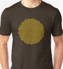 Sunflower Seed Fibonacci Spiral Golden Ratio Math Mathematics Geometry T-Shirt