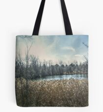 Pond off Hinchmann Drive in Wayne NJ Tote Bag