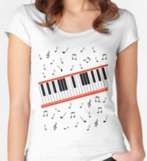 Beat It Piano Women's Fitted Scoop T-Shirt