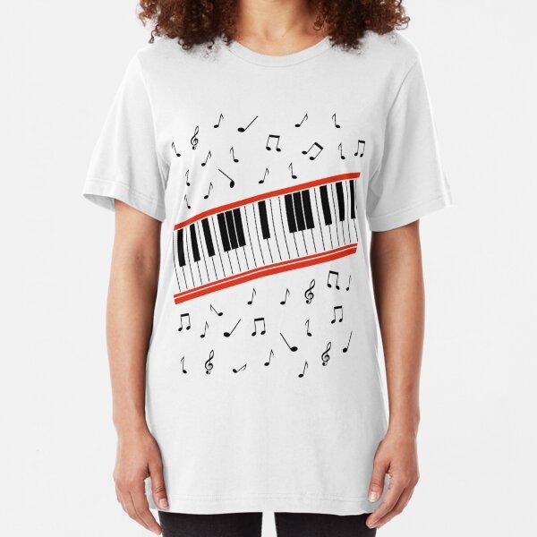 Beat It Piano Slim Fit T-Shirt