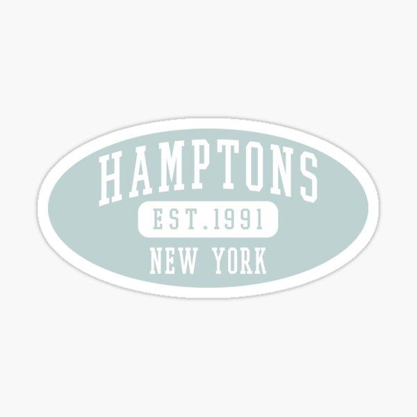 Hamptons Est. 1991 Green Varsity Lettering Oval Sticker