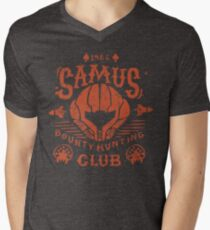 Samus Bounty Hunting Club Men's V-Neck T-Shirt