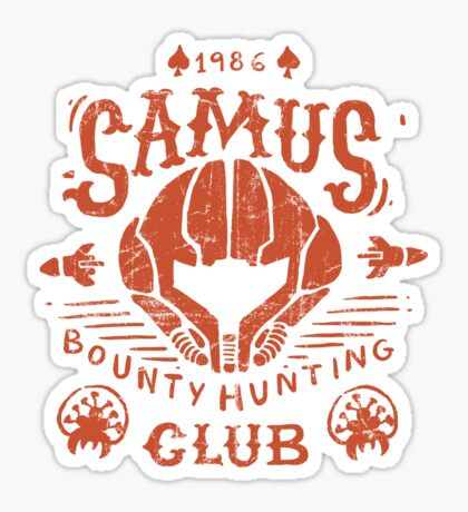 Samus Bounty Hunting Club Sticker