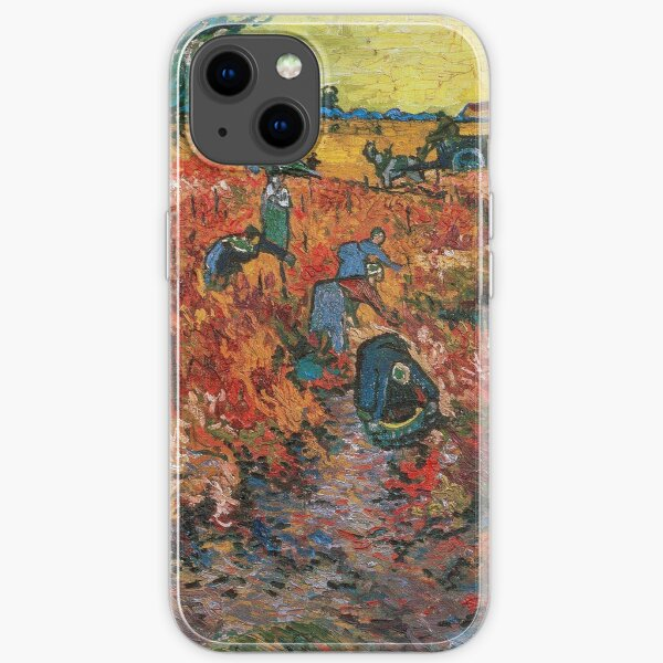 The Red Vineyards near Arles by Vincent van Gogh iPhone Soft Case