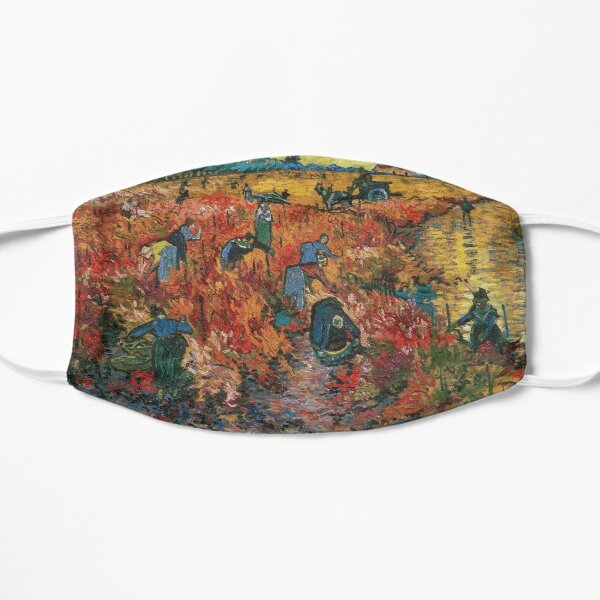 The Red Vineyards near Arles by Vincent van Gogh Flat Mask