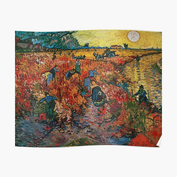 The Red Vineyards near Arles by Vincent van Gogh Poster