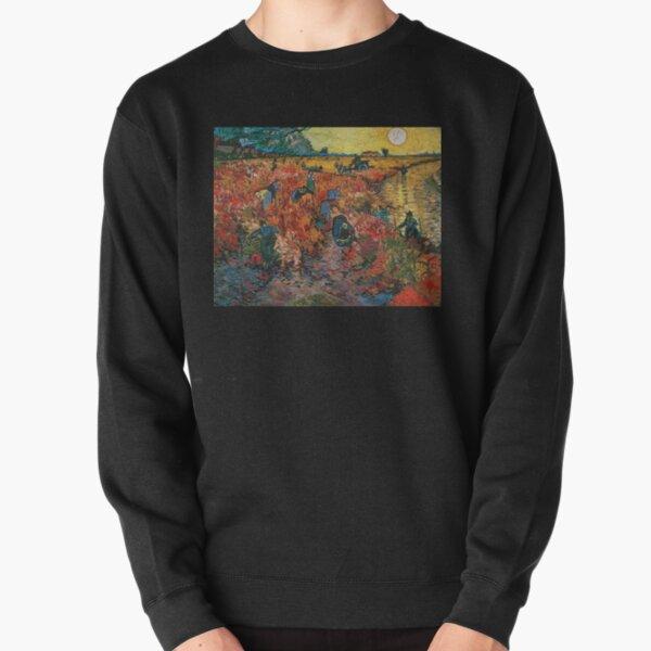 The Red Vineyards near Arles by Vincent van Gogh Pullover Sweatshirt