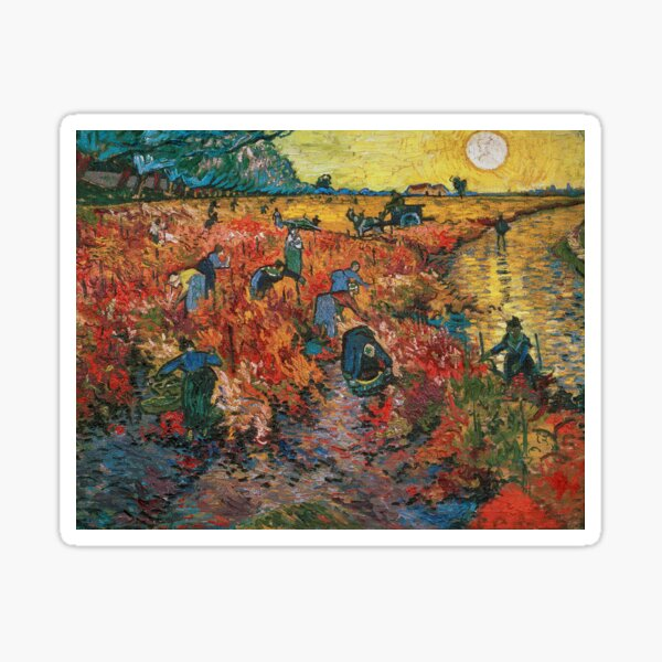 The Red Vineyards near Arles by Vincent van Gogh Sticker