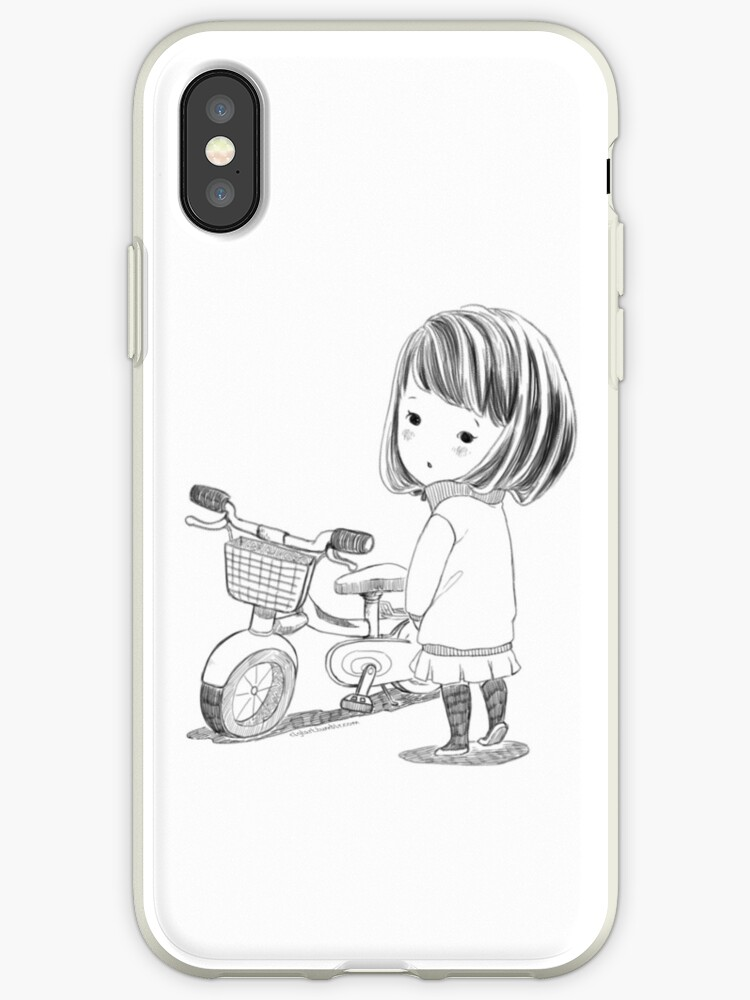 Girl with bicycle by clgtart