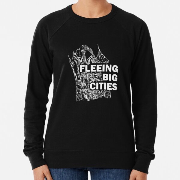 Fleeing Big Cities Sudadera ligera