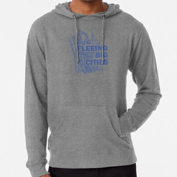 Blue Fleeing Big Cities Sudadera ligera con capucha
