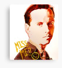 Miss me? - Jim Moriarty Canvas Print